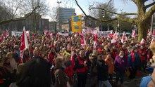 Landesweiter Warnstreik / Kundgebung in Münster