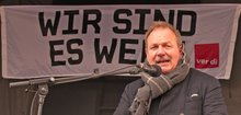 Warnstreik NRW, Frank Bsirske