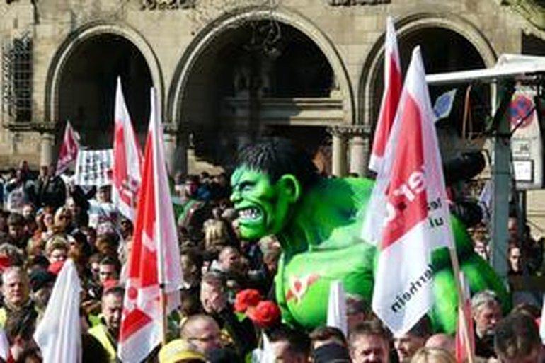 Warnstreik Duisburg