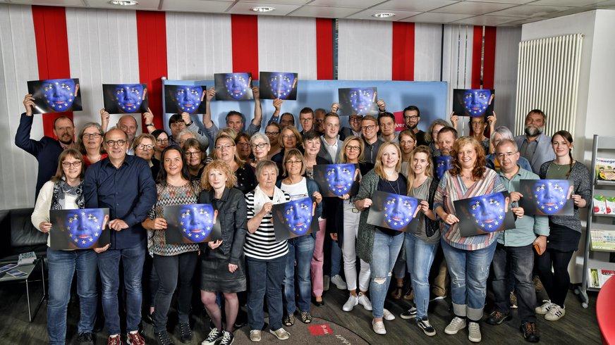 Die Mitglieder des LBV rufen zur Europawahl auf