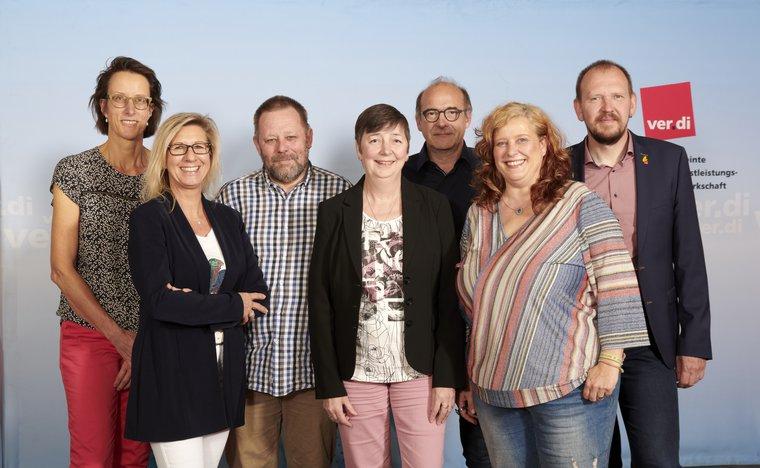 Präsidium mit Landesleitung: Martina Rößmann-Wolf, Cornelia Parisi-Bomholt, Hajo Schneider, Gabi Schmidt, André auf der Heiden, Nicola Seggewies und Frank Bethke