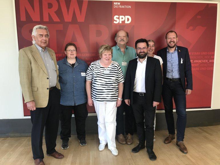 Der LEA-Vorstand NRW mit Thomas Kutschaty (SPD NRW)