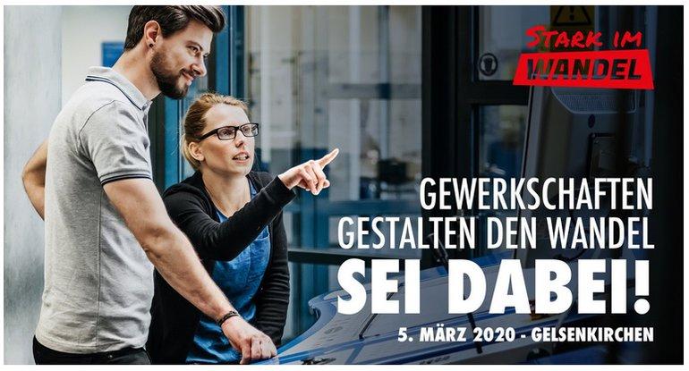 """Das Kampagnenmotiv zur Veranstaltung """"Stark im Wandel"""" des DGB NRW"""