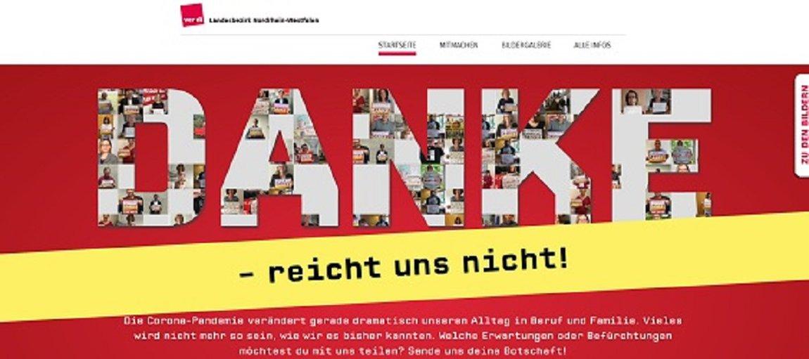 Danke, Aktion, ver.di NRW, Kampagne