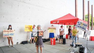 Demo von Musikschulmitarbeiter*innen in Bonn am 12.08.2020