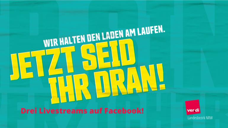 Kundgebungs-Livestream zur Tarifrunde öffentlicher Dienst aus Essen, Dortmund und Köln