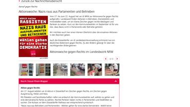 Aktionswoche: Nazis raus aus Parlamenten und Betrieben