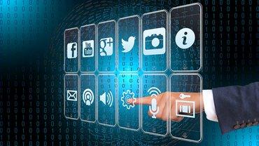 Eine Oberfläche verschiedener digitaler Angebote