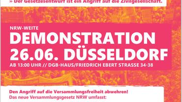 Demonstration zum Versammlungsgesetz NRW in Düsseldorf