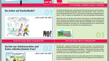 Anti-AfD-Kartenblock zur Bundestagswahl