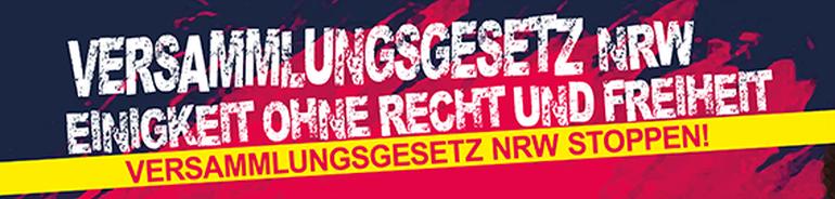 Versammlungsgesetz stoppen - Demo in Düsseldorf