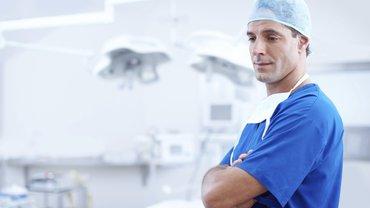 Das Bild eines Arztes.