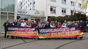 Landesbezirksvorstand gegen das Versammlungsgesetz